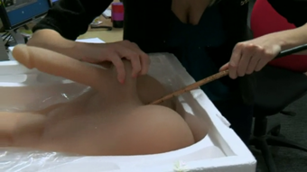 male sex doll being used