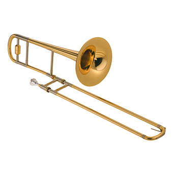 This is a regular, non-rusty trombone.