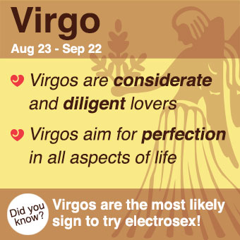 Virgos can become obsessed with technical details of lovemaking.