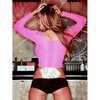 Hustler Lingerie Long Sleeve Fishnet Crop Top