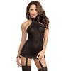 Dreamgirl All-In-One Sheer Dress and Stockings Set
