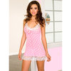 Music Legs Polka Dot Mini Dress with Soft Lace Trim