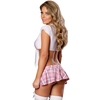 Exposed Schoolgirl Tie Top and Skirt Set