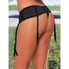 Hustler Classic Lace Crotchless Garter Thong