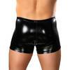 Male Power Liquid Onyx PU-Coated Pouch Short