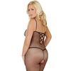 Rene Rofe Plus Size Criss-Cross Strap Crotchless Fishnet Bodystocking