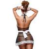 Exposed Fishnet and Lace French Maid Costume
