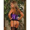 Exposed Precious Gems Basque and G-String Set