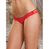 Dreamgirl Satin and Lace Thong with Criss Cross Detailing