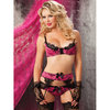 Seven Til Midnight Bon Voyeur Bra Suspender Belt and Knickers
