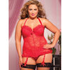 Seven Til Midnight Plus Size Some Like It Hot Bustier Top and Thong Set