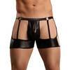 Male Power New Extreme Wet Look Garter Shorts