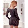 Cottelli Long Sleeved Lace Mini Dress