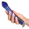 Icicles No 29 Textured Swirl G-Spot Glass Dildo