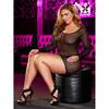 Lapdance Plus Size Center Stage Long Sleeve Crochet Mini Dress