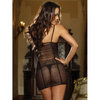 Dreamgirl Red Diamond See Through Chemise with Fringe Detailing