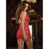Dreamgirl Red Diamond See Through Fishnet Dress and G-string Set
