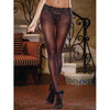 Dreamgirl Black Diamond Sheer Crotchless Pantyhose with Lace Detail