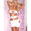 Pink Lipstick Nocturnal Mini Dress with Cut-Out Detail