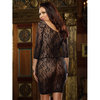 Dreamgirl Red Diamond Plus Size Lace Long Sleeved Dress