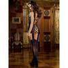 Dreamgirl Sheer Lace All-In-One Garter Dress and Stockings