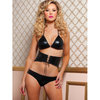 Seven Til Midnight Indecent Desires Lame Bra Set