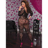 Seven Til Midnight Plus Size Crochet Floral Lace Bodystocking