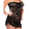 Fantasy Curve Plus Size Strapless Lace Dress