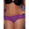 Seven Til Midnight Plus Size Crotchless Lace Boyshort Knickers
