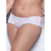 Seven 'til Midnight Plus Size Lace-Up Crotchless French Knickers