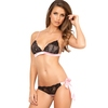 Rene Rofe Bow Boudoir Tie Side Bra and Knicker Set