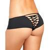 Rene Rofe Crotchless Panties with Lace-Up Back