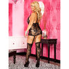 Music Legs Plus Size Lace Camisole and Suspender Set