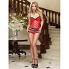 Dreamgirl Heart Jacquard See Through Bustier Set