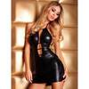7heaven Sabine Wet Look Mini Dress