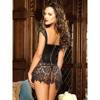 Dreamgirl Beyoncé Faux Leather and Lace Corset