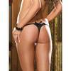 Dreamgirl Crotchless Thong with Ruffled Front