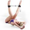 DOMINIX Deluxe Expandable Spreader Bar with Heavy Leather Cuffs 20 Inch