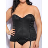Lovehoney Plus Size Spoil Me Satin Bustier Set Black