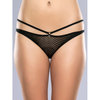 Lovehoney Covet Me Mesh Strappy Crotchless Briefs Black
