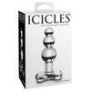 Icicles No 47 Beaded Glass Butt Plug with T-Bar Base