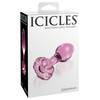 Icicles No 48 Glass Butt Plug with Flower Base