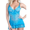 Oh La La Cheri Lace Chemise and G-String Set