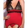 Lovehoney Plus Size Adore Me Lace & Microfibre Bustier Set