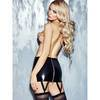 7Heaven Revolver Wet Look Mini Skirt with Suspenders