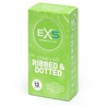 EXS Ribbed Dotted and Flared Condoms (12 Pack)