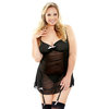 Fantasy Curve Plus Size Sexy Sheer Chemise Set