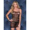 Glitter Steamy Stripes Mesh Minidress