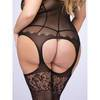 Lovehoney Plus Size Black Fishnet and Lace Bodystocking