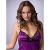 Lovehoney seidiges Babydoll-Set in Pflaume